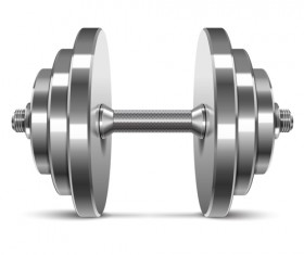 Dumbbell vector design illustration 05