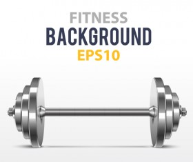 Dumbbell with fitness background vector 01