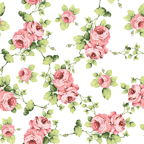 Eleni Floral Seamless Pattern Vector 02 Free Download