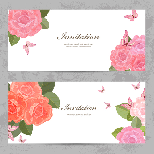 Flower rose invitation card vector 02 vector card free download flower rose invitation card vector 02 stopboris Image collections