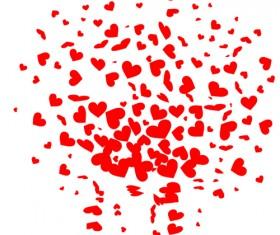 Flying heart photoshop brushes