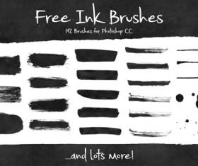Free ink brushes set