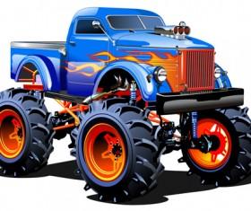 Funny big car vector illistration vector 07