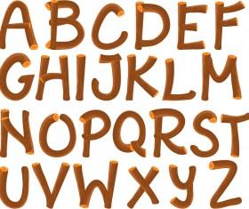 Funny wood alphabet vector