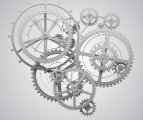 Gear wheels combination vector