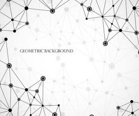 Geometric lines background vector