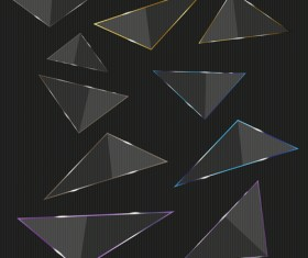 Glass triangle vector