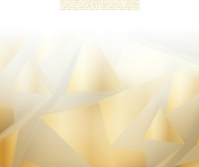 Golden triangle abstract background vector 01