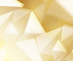Golden triangle abstract background vector 02