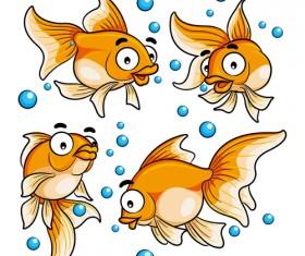 Goldfish cartoon vector design