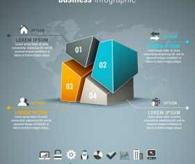 Gray business infographics template vector 03