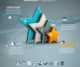 Gray business infographics template vector 04