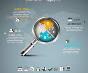 Gray business infographics template vector 05