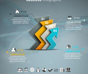 Gray business infographics template vector 06