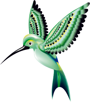Free vector illustration: colorful hummingbird the shutterstock blog.