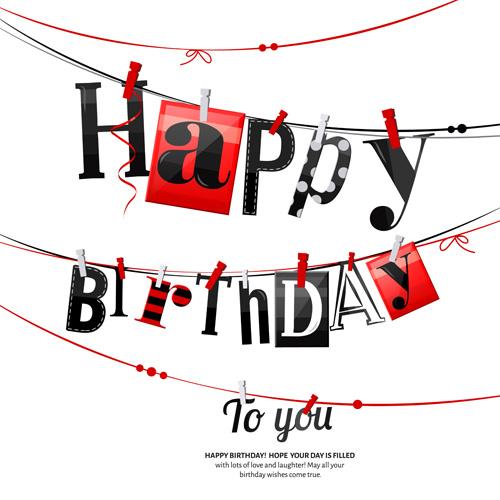 Happy Birthday Cards Creative Vector 01 Free Download