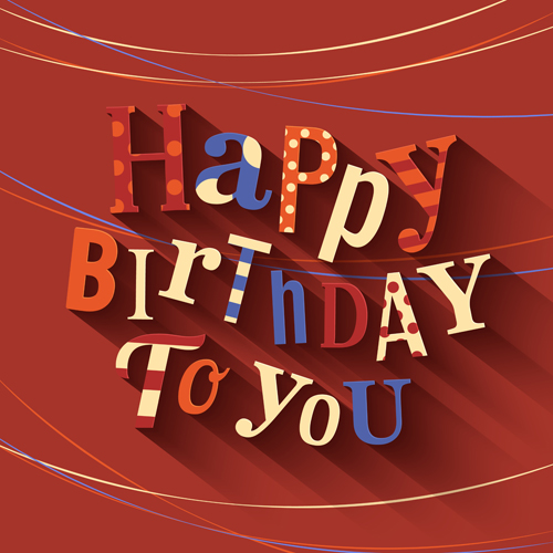 happy birthday cards creative vector   vector card free download, Birthday card