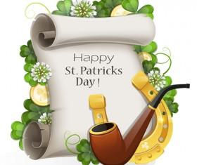 Happy st.patrick day background vectors 08