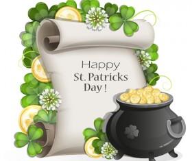 Happy st.patrick day background vectors 09