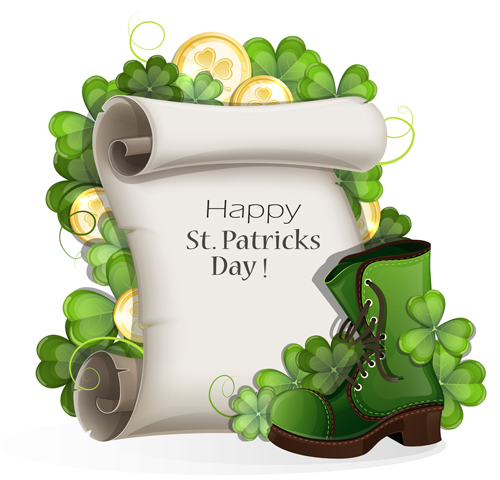 Happy St Patrick Day Background Vectors 10 Free Download