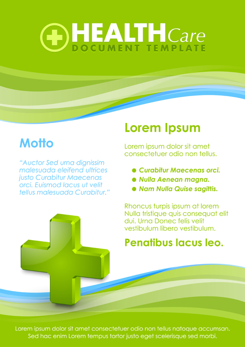 healthcare document poster template vector 02 free download