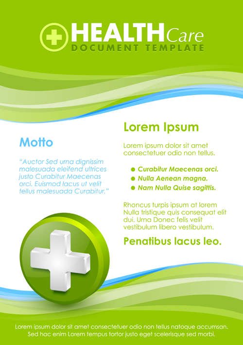 Healthcare document poster template vector 08 - Vector Cover free ...