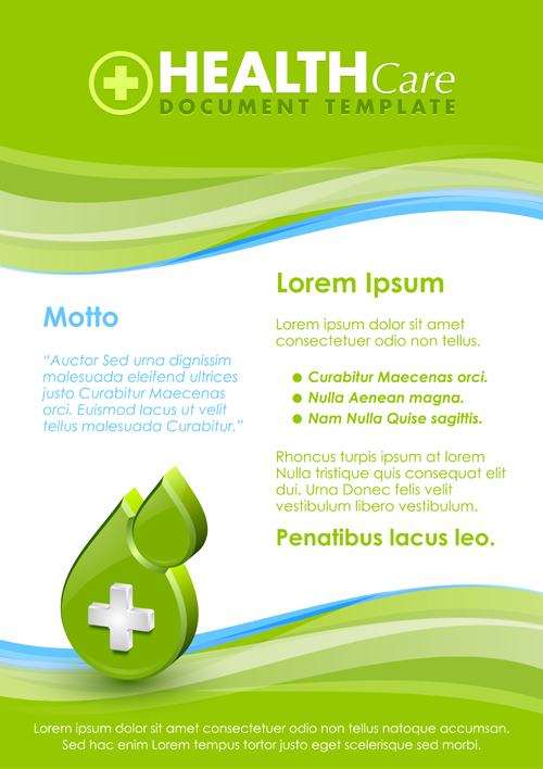 Healthcare document poster template vector 09