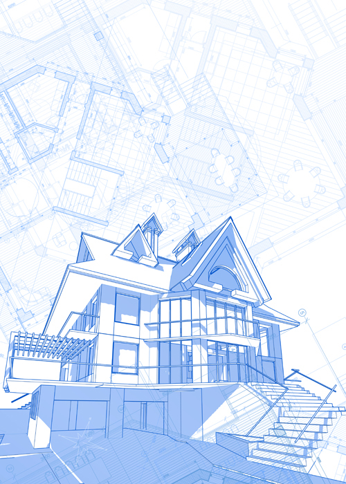 House architecture blueprint vector set 07 free download house architecture blueprint vector set 07 malvernweather Image collections
