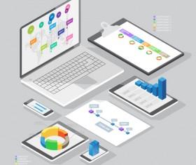 Isometric branding infographics template vector 21