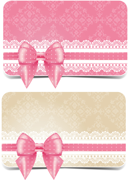 Lace with pink bow business card vector free download lace with pink bow business card vector colourmoves