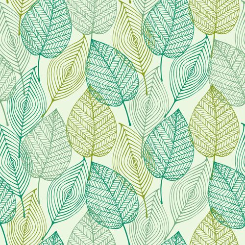 seamless leaf pattern vector wwwimgkidcom the image