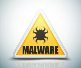 Malware warning sign vectors 03