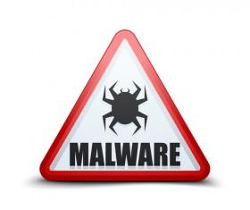 Malware warning sign vectors 04