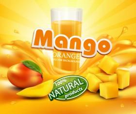 Mango juice nature vector 03