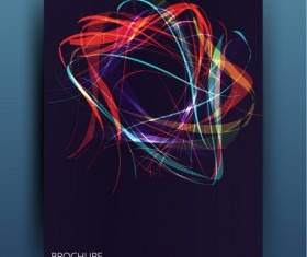 Messy lines wiht blue brochure template vector 01
