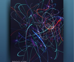 Messy lines wiht blue brochure template vector 06
