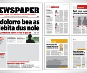Modern newpaper layout vector template 02