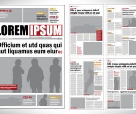 Modern newpaper layout vector template 03