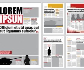 Modern newpaper layout vector template 04