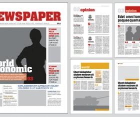 Modern newpaper layout vector template 05