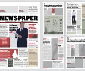 Modern newpaper layout vector template 06