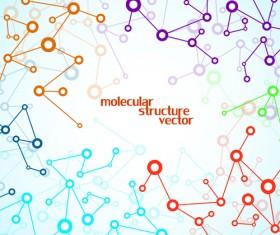 Molecule structure modern background 01