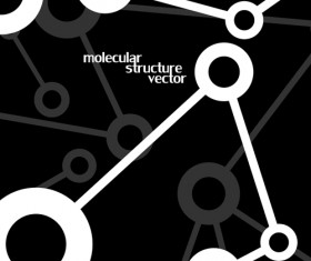 Molecule structure modern background 02
