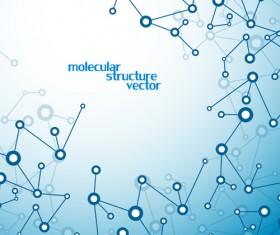 Molecule structure modern background 03