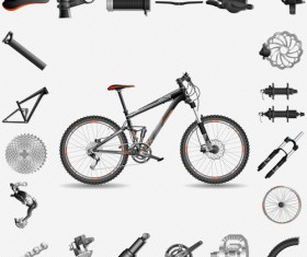 Mountain bike fitting vector material