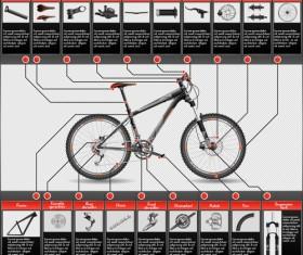 Mountain bike structure description vector 02