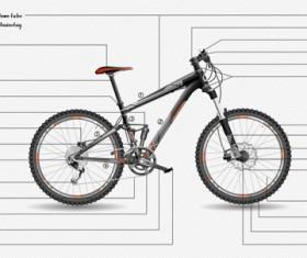 Mountain bike structure description vector 03