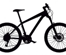 Mountain bike vector silhouetter 01