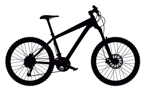 Mountain Bike Vector Silhouetter 01 Free Download