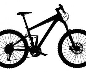 Mountain bike vector silhouetter 02